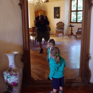 Zrcadlové selfie s Esterkou.