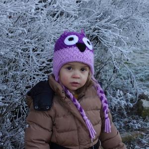 Esterka před zimní krásou.