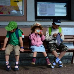 Čekání na vlak.