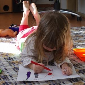 Malá umělkyně.