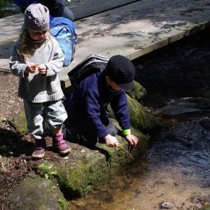 Děti a potok.