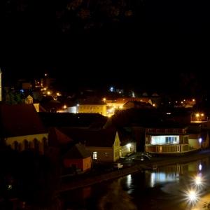 Noční Ledeč nad Sázavou.