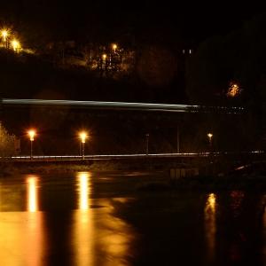 Posázavský pacifik v noci.