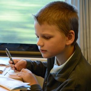Šimonek připravuje maďarská slovíčka.