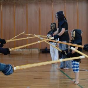 Kendó - společné cvičení.