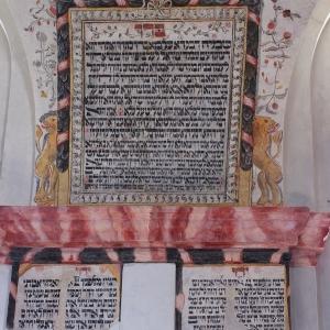 Synagoga Humpolec, objevené nápisy.