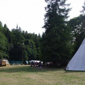 Pohled na tábořiště.