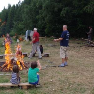 Buřtíkový oheň.